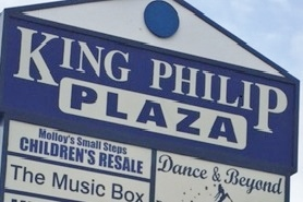 King Philip Plaza sign