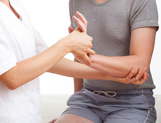 Hand wrist pain exam
